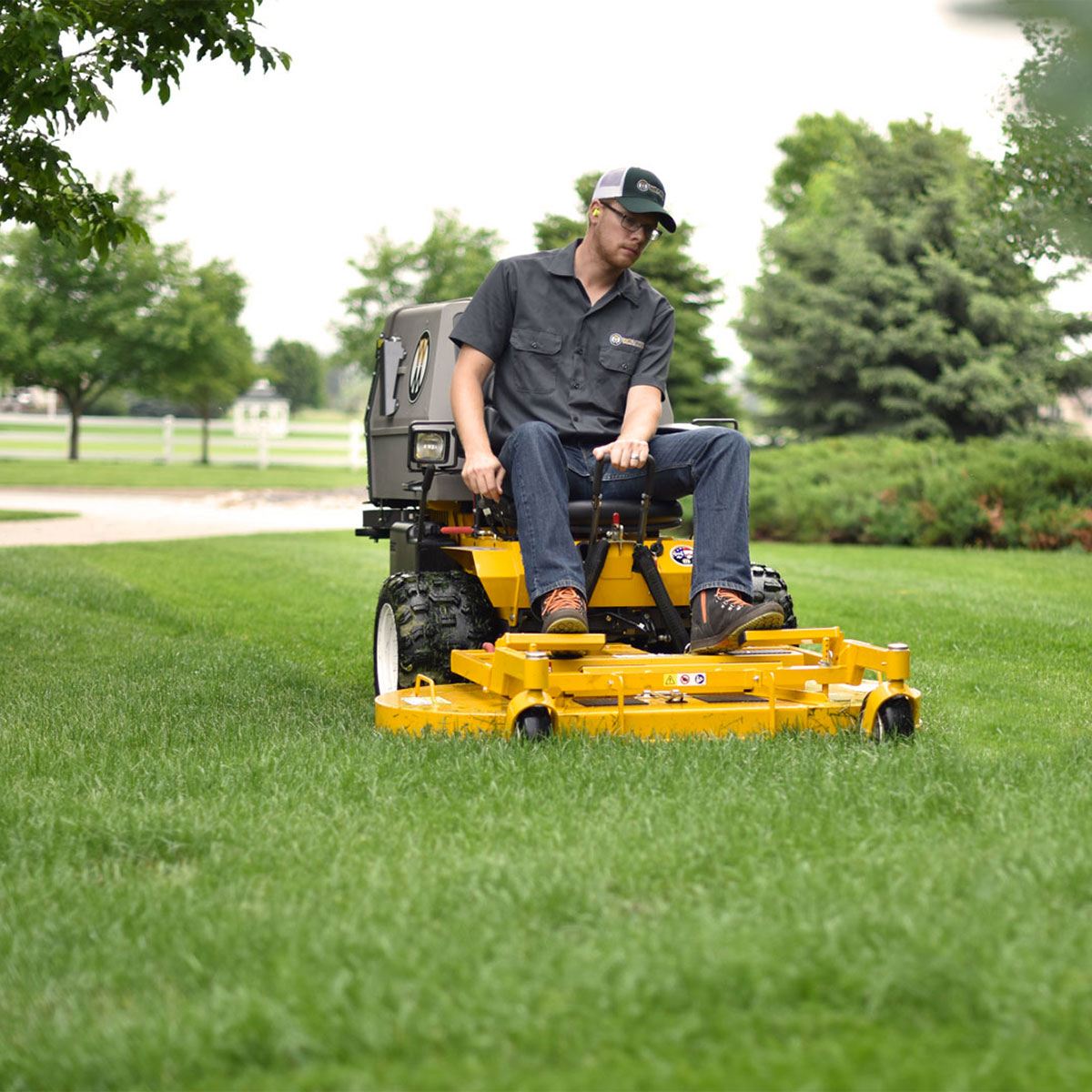 Walker Mower MC19 mowing landscape