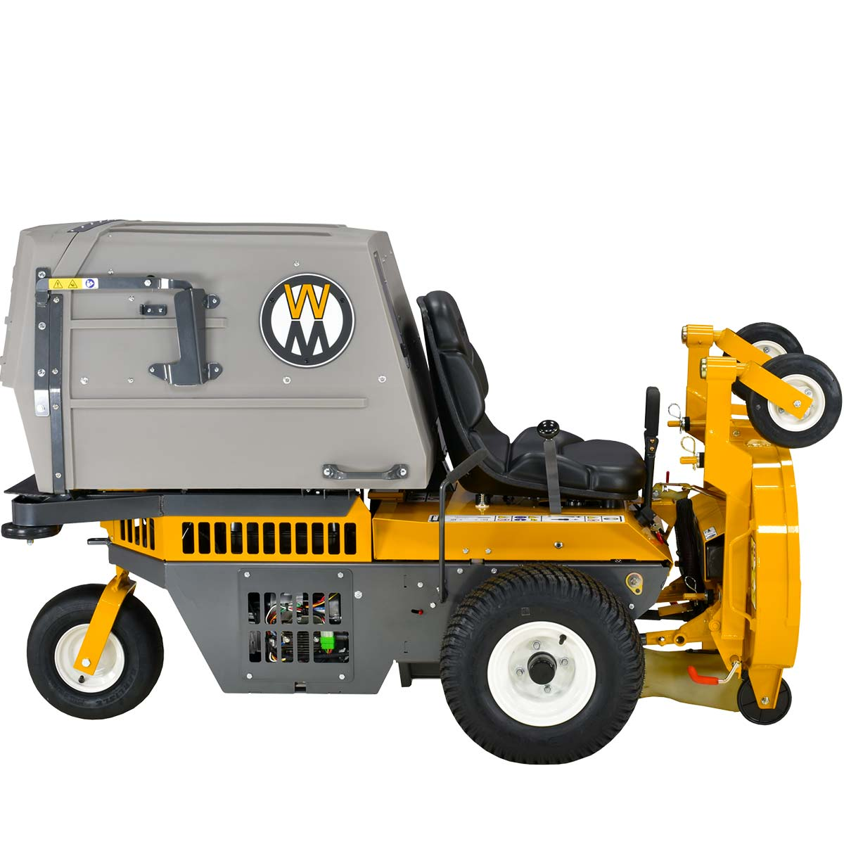 Walker Mower MS - side elevation - deck in service position