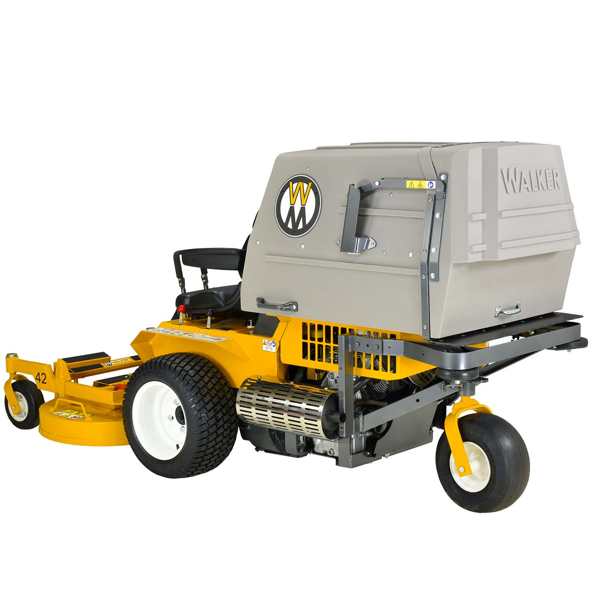 Large rear collection bin for MC19 Walker Mower