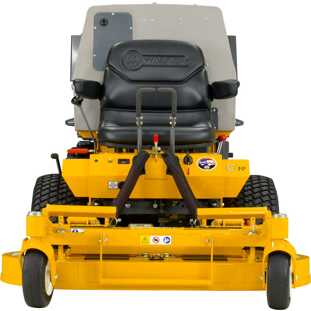 Walker MC19 mower - narrow profile for close landscape work
