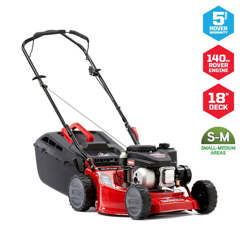 "18"" Rover Duracut 410 Lawn Mower - Steel Deck"