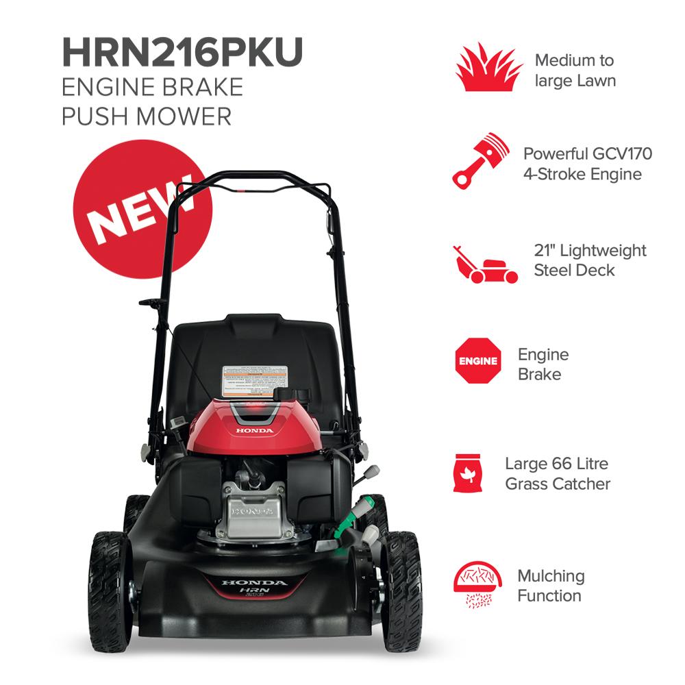 "21"" Honda HRN216PKU Catcher-Mulch Push Mower"