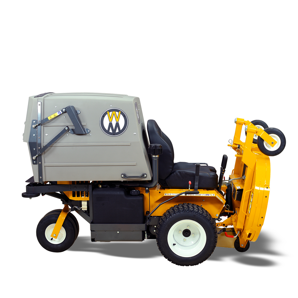 Model MT27i with deck in service position; easy blade maintenance