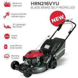 "21"" Honda HRN216VKU Blade Brake Self Propelled Mower"